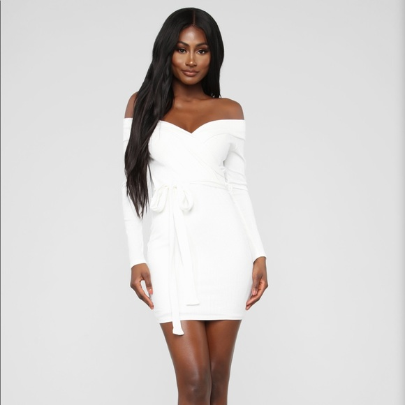97878f59dde white tie sweater dress